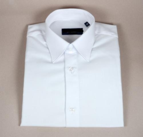 Camisa blanca manga larga para niños modelo serie 047