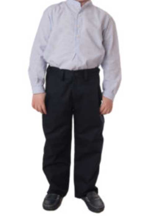 Pantalon De Vestir Negro Para Ninos Modelo Serie 15 Con Elastico