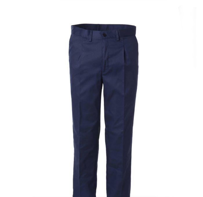 Pantalón azul de trabajo con cinturilla TKA EXTRA 1 PINZA