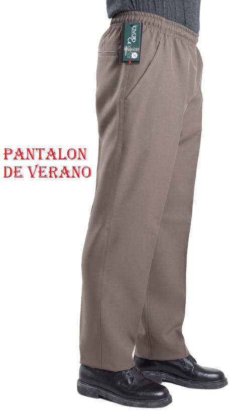 PANTALÓN VESTIR ELÁSTICO EN CINTURA QUIM TEX BLAPER DE VERANO