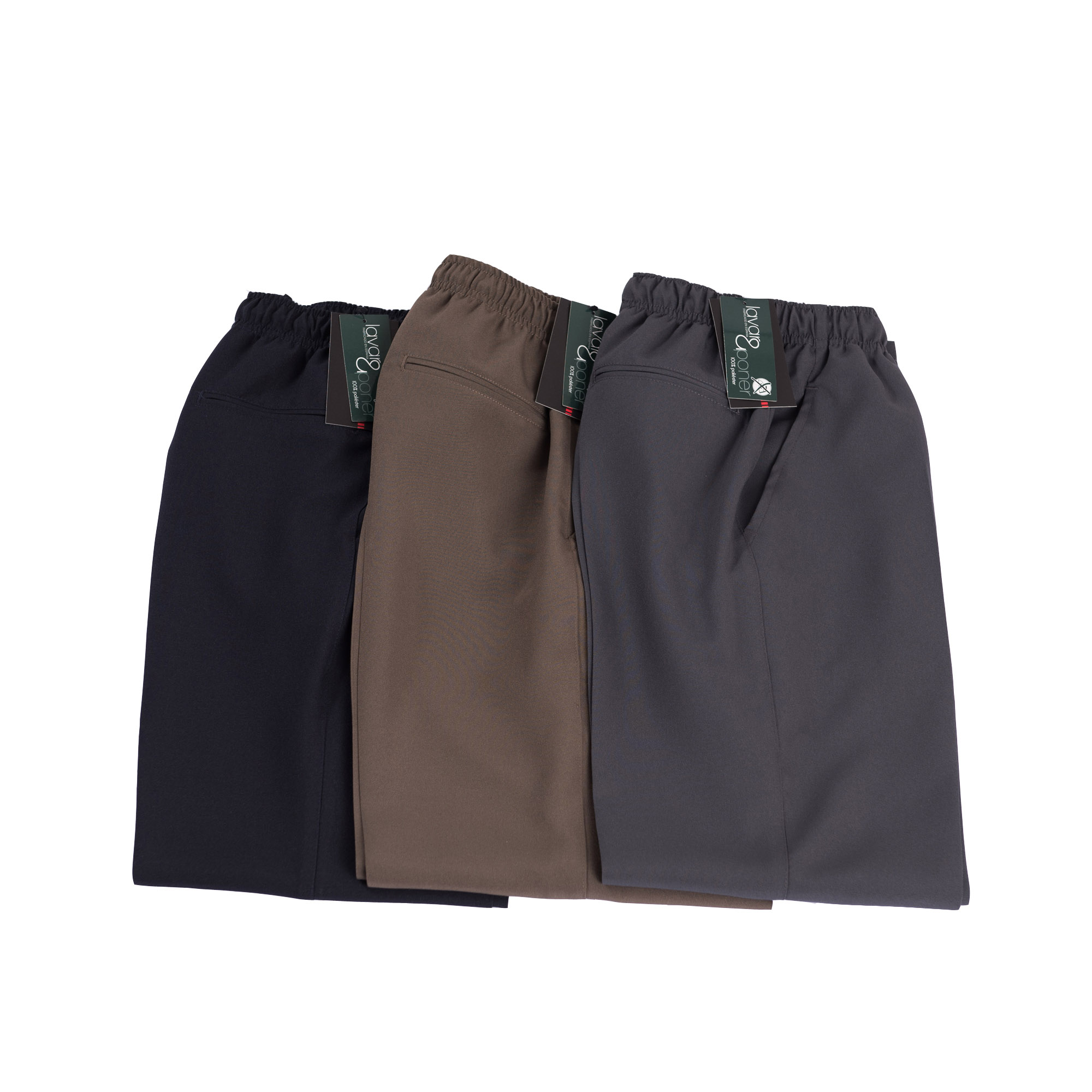 Pantalon Vestir Elastico En Cintura Quim Tex Blaper