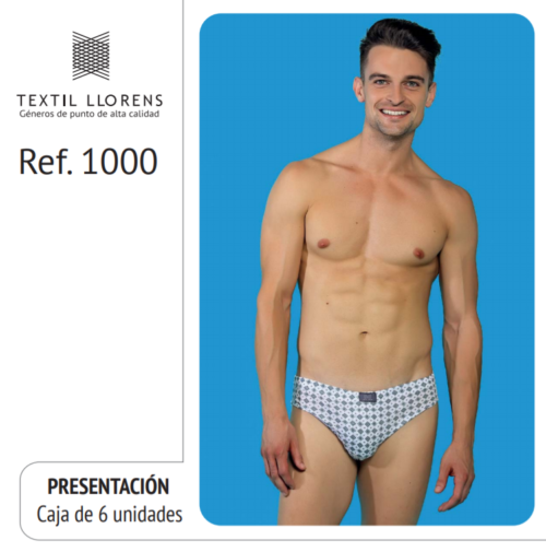 SLIP ALGODÓN ESTAMPADO CABALLERO REF 1000