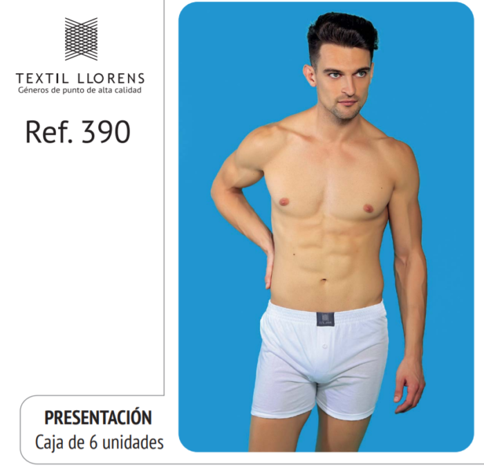 BOXER ALGODON DE HOMBRE REF 390 TEXTIL LLORENS