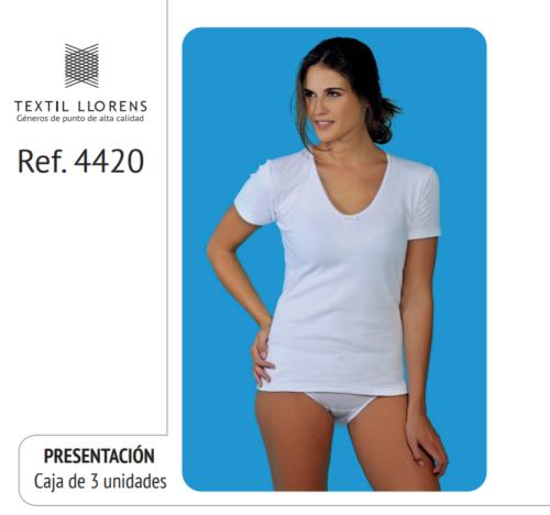 CAMISETA ALGODON MANGA CORTA AFELPADA REF 4420