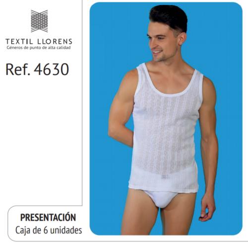 CAMISETA SPORT ALGODÓN TIRANTES CALADA CABALLERO REF 4630