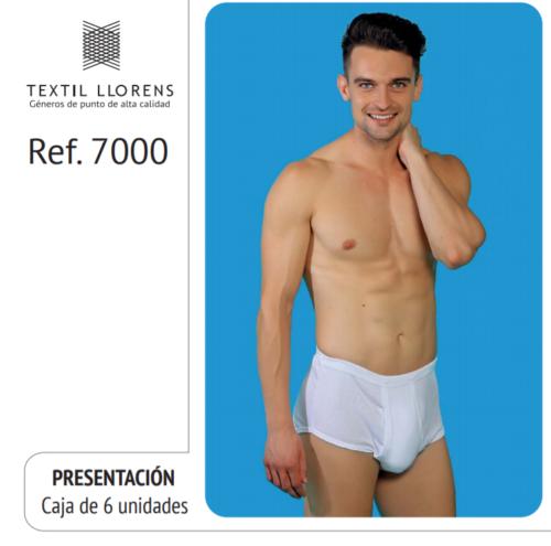 SLIP CLASICO HOMBRE REF 7000 TEXTIL LLORENS
