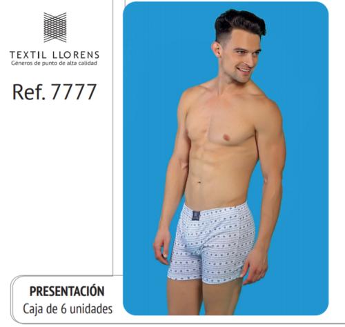 BOXER ESTAMPADO DE ALGODON REF 7777 TEXTIL LLORENS