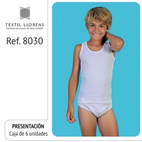 CAMISETA TIRANTE ANCHO ALGODON SORT REF 8030 TEXTIL LLORENS