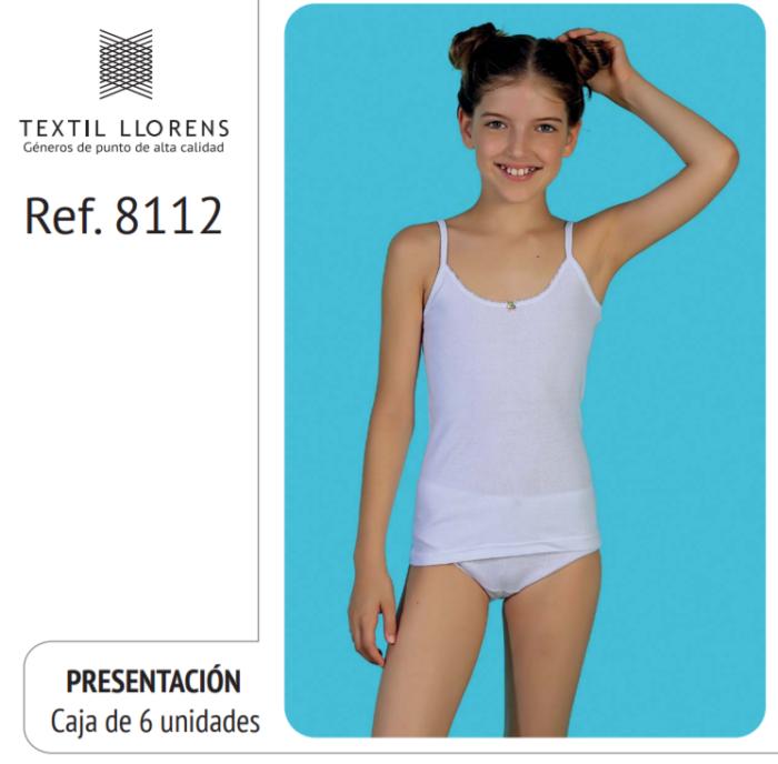 CAMISETA TIRANTE FINO ALGODON NIÑA REF 8112 TEXTIL LLORENS
