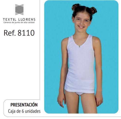 CAMISETA NIÑA TIRANTE ANCHO REF 8110 TEXTIL LLORENS